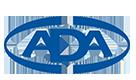 A D A Logo - Blue lettering