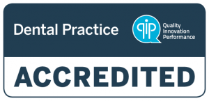 Q I P Accredited dental practice logo